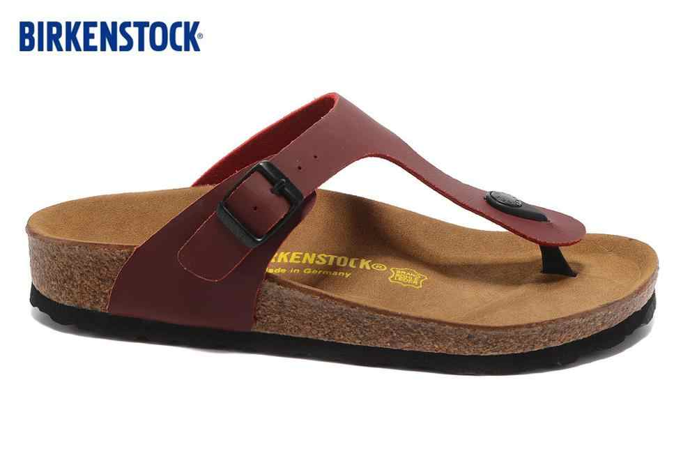 Birkenstock 2019 EVA Gizeh ชายหาดฤดูร้อนใหม่ Cork รองเท้าแตะ Flip Flops รองเท้าแตะผู้หญิงผู้ชายสี Casual สไลด์รองเท้าแบนขนาด: 35-45