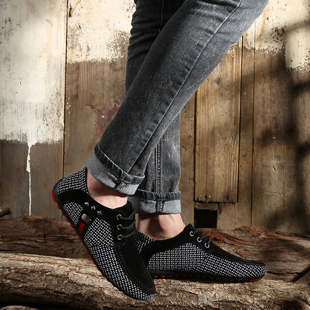 Men Shallow Casual Shoes- Loafers Moccasins  Sneakers 4