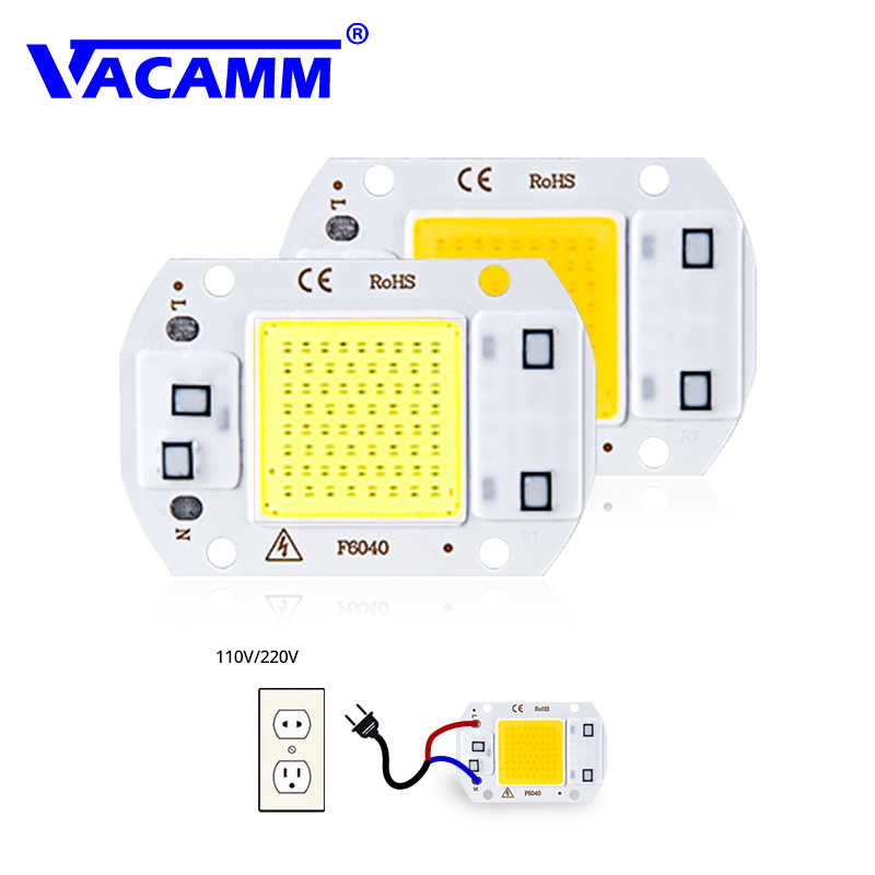 LED COB Chip Flood Light Lamp AC220V SMD 20W 30W 50W White/ Warm White With Smart IC High Power DIY Outdoor Floodlight Spotlight