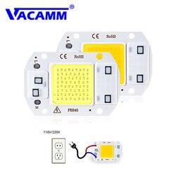 Светодиодный прожектор COB с чипом AC220V SMD 20 Вт 30 Вт 50 Вт, белый/теплый белый с умным IC высокой мощностью, DIY наружный прожектор