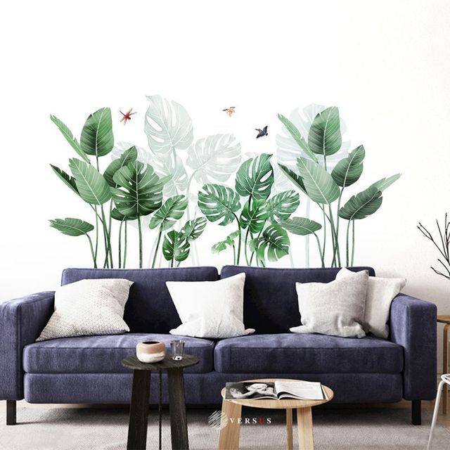 Green Plant Tropical Wall Stickers