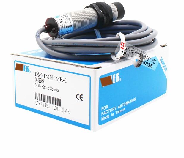 DM-1MN M18 зеркальный отражающий фотоэлектрический переключатель датчик на 100% подлинный и Новый фотоэлектрический датчик DM-1MN + MR-1