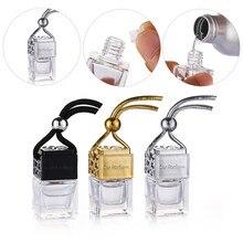 1pc carro ambientador perfume garrafa ornamento difusor de óleo essencial fragrância pendurado garrafa vazia acessório interior