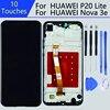 עבור 5.84 אינץ תצוגת Huawei P20 לייט lcd עם מסגרת עבור HUAWEI P20 לייט תצוגת ANE-LX1 ANE-LX3 נובה 3e מגע מסך pantalla