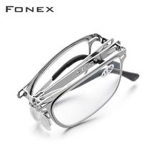 FONEX yüksek kaliteli katlanır okuma gözlüğü erkekler kadınlar katlanabilir presbiyopi okuyucu hipermetrop diyoptri gözlük vidasız LH012