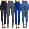Women Sexy Push Up Seamless High Waist Warm Jeans Leggings Women Spring Elastic Faux Denim Jeggings Pants Leggins Mujer 3XL 1