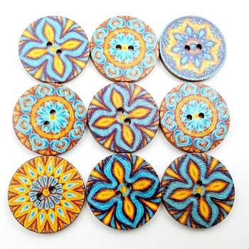 100Pcs Mixed Style 2 Holes Wood Buttons For Clothes Sewing Craft Scrapbooking Handicraft Buttons DIY