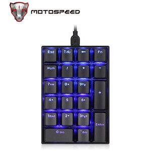 Image 2 - MOTOSPEED K23 Mechanical Numeric Keypad Wired 21 Keys Mini Numpad LED Backlight Keyboard Laptop Numerical for Cashier Red Switch