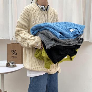 2020 jesień sweter męski sweter Casual miękki i wygodny sweter sweter gruby ciepły dzianinowy fajny męski gruby sweter tanie i dobre opinie FANTUOSHI CHINA Sweater Stałe Na co dzień COTTON Mieszkanie dzianiny O-neck Sweatercoat Pełna Draped REGULAR STANDARD