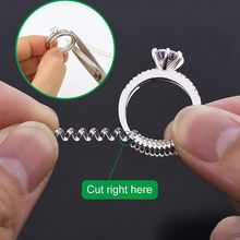 Ring Size Adjuster 15 Size Adjuster 3 Sizes Clear Ring Sizer Resizer Fit for Loose Rings Anti-damage transparent ring adjuster(China)