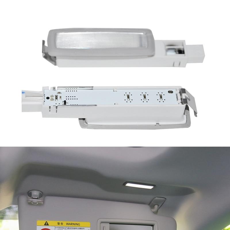 Car Interior Gray Led MakeUp Lamp Dome Reading Light Sun Visor Lights Passenger Side For VW Passat B8 2017 2018 2019 3GD947109