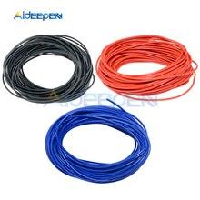 10 м/лот 24 AWG провод электрический провод Луженая изолированный кабель красный черный синий желтый цвет 10 м для электрооборудования