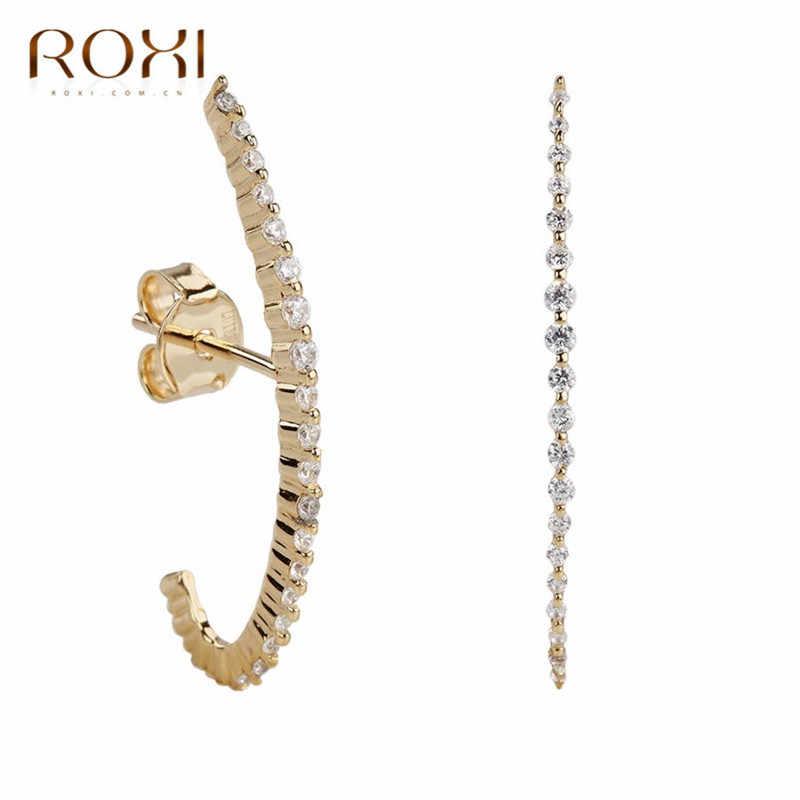 Bar Jewelry Geometric Studs 925 Sterling Silver Round Line Bar Stud Earrings Bar Studs Geometric Jewelry Line Bar Bar Earrings