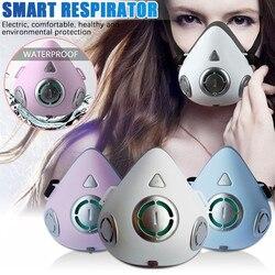 Умный электрический и воздушный очищающий респиратор, автоматический респиратор свежего воздуха, уличная безопасность, рот-Муфельная, ...