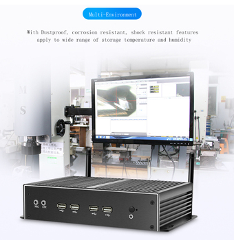 laptop and desktop computer fanless mini pc i5 8250u 8th gen industrial pc ddr4 support window10 linux rs485 rs422 rs232 gpio