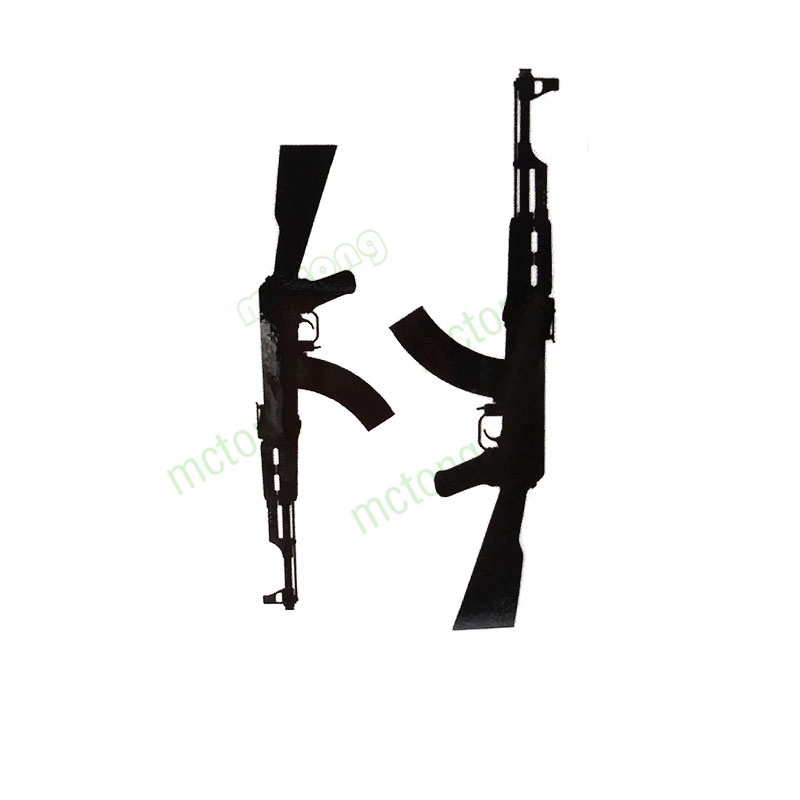 Classic Black Gun Ak Machine Gun Tatuajes Hand Tatouage Body Waterproof Temporary Flash FakeTattoo Sticker Small Taty