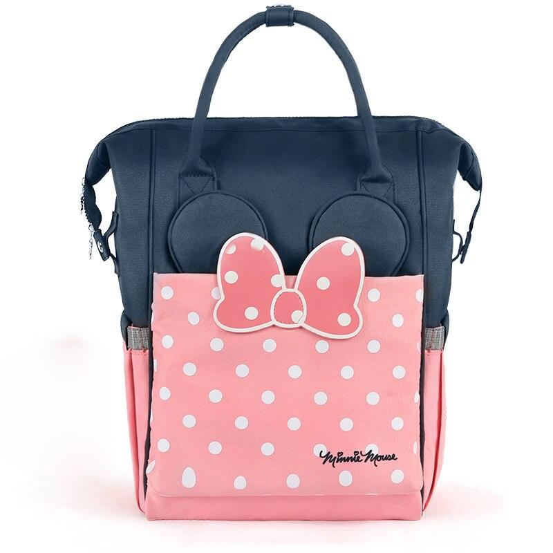 Authentique Disney maman sac à dos isolation thermique Nappy sac bébé grande capacité biberon sacs bébé soins couches sacs