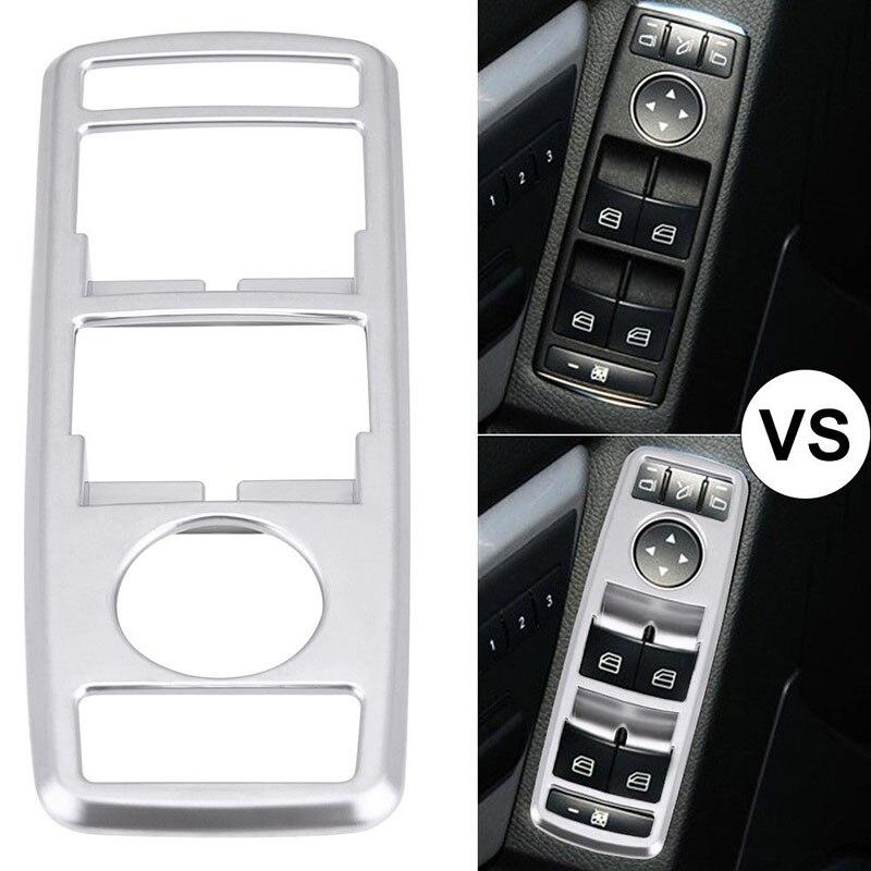 Наклейка выключатель Кнопка крышка окна автомобиля для Mercedes Benz A B C (W204) E (W212) Серебро Замена интерьера