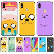adventure time cute Beemo BMO Jake Finn Lumpy Phone Case For Huawei Y5 Y6 II Y7 Y9 PRIME 2018 2019 NOVA3E P20 PRO P10 Honor 10 adventure time backpack with finn and jake cn bmo backpack beemo be more cartoon robot high grade pu green