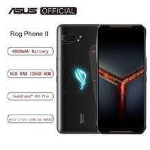 ASUS ROG טלפון Ⅱ Smartphone 8GB RAM 128GB ROM אוקטה Core Snapdragon 855 בתוספת 6000mAh NFC Android9.0