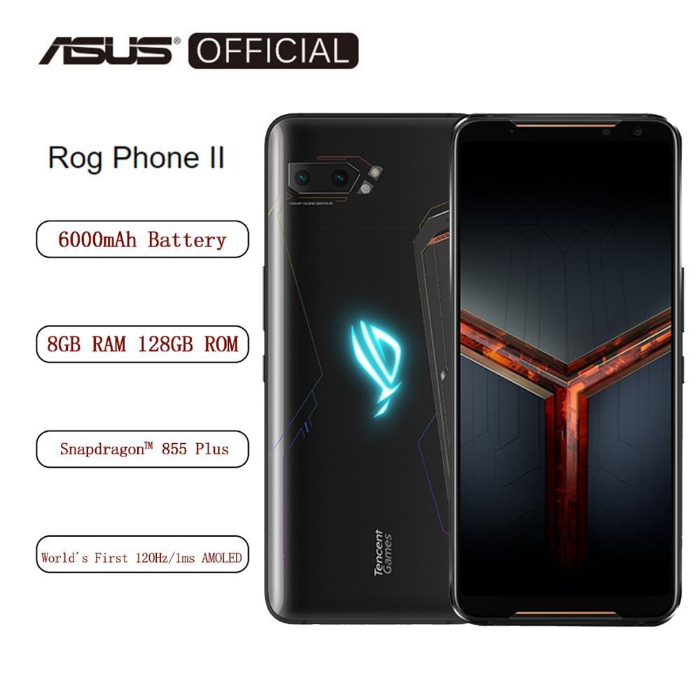 Asus rog telefone smartphone smartphone 8 gb ram 128 gb rom octa núcleo snapdragon 855 plus 6000 mah nfc android9.0