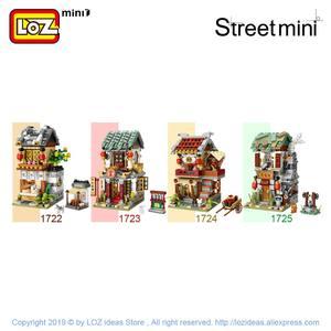 Image 3 - Мини конструктор LOZ, китайская уличная китайская традиция, специальная модель «сделай сам», сборные игрушки для детей, Образовательное аниме