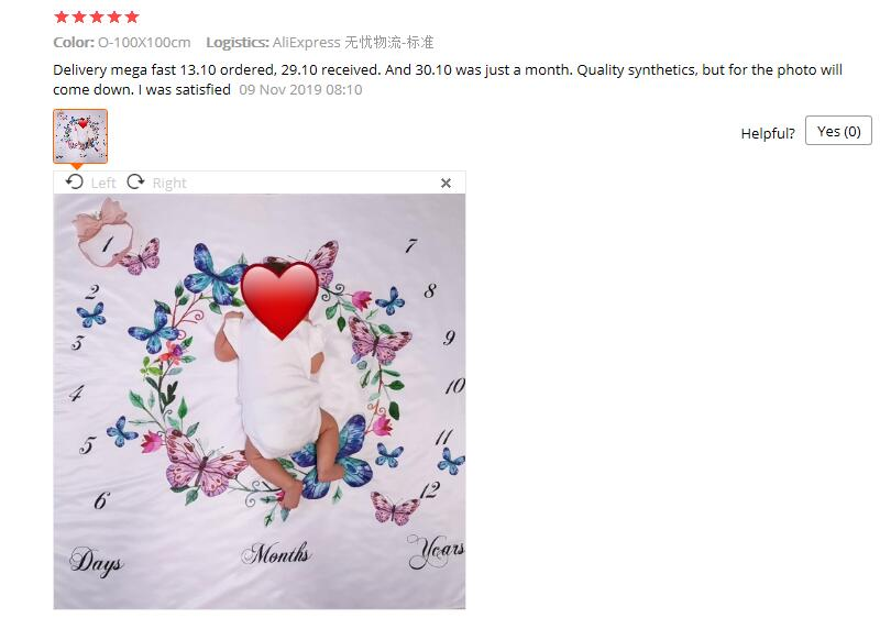 Hefb6bf4810d64cc580f59f7d6b5a4686H Cartoon Pattern Infant Baby Milestone Photo Props Background Blankets Play Mats Backdrop Cloth Calendar Photo Accessories Nordic