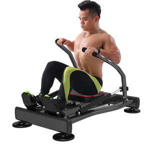 Image 5 - Home Fitness Full Motion Rowing Machine Rower w/ 350 lb Weight Capacity and LCD Monitor