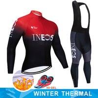 2019 INEOS radfahren team JERSEY 9D fahrrad hosen set Maillot Kleidung für männer Winter Polar thermische pro Radfahren jersey