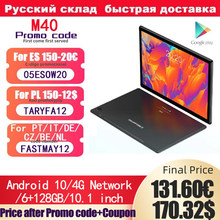 Tablet TECLAST M40 4G Network, Android 10, 10.1
