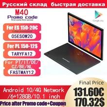 Teclast M40 Android 10 tabletów sieć 4G 10.1 cala T618 Octa Core podwójna rozmowa telefoniczna 1920x1200 6GB RAM 128GB Tablet ROM PC