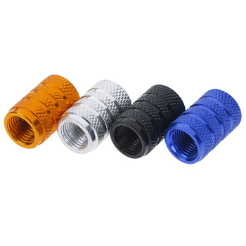 4 Pcs/ Set Stainless Steel Material Spike Wheel Tyre Tire Valve Stems Air Dust Cover Screw Caps For Car Truck image