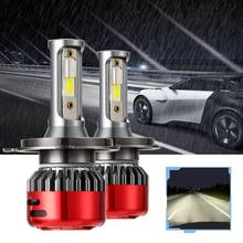 1Pair Car Headlights LED H4 H7 H11 Lights Bulbs 12000LM DC9-30V 80W Waterproof Auto Fog Lamp 6000K(China)