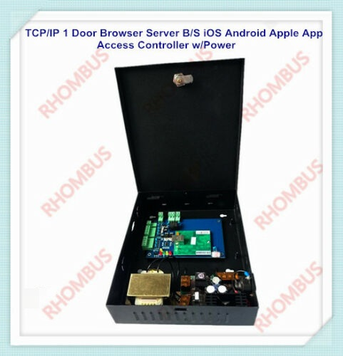 TCP/IP 1 Door Browser Server B/S iOS Android Apple App Access Controller w/Power image
