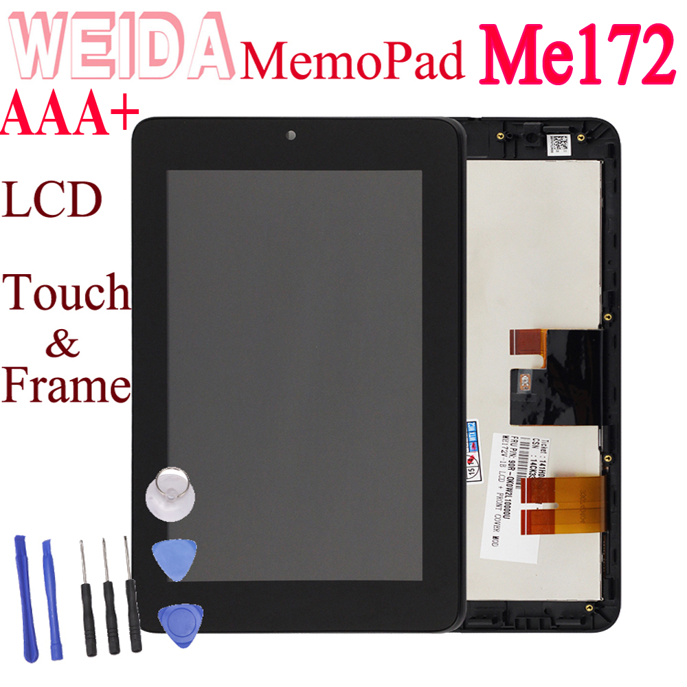WEIDA LCD Display For Asus MemoPad ME172 Touch Screen LCD Panel Assembly Replacement With Frame ME172V K0W