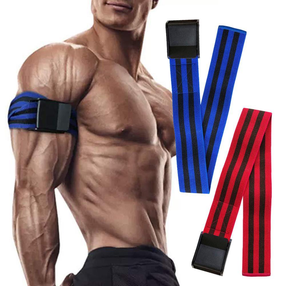 2Pcs Blood Flow Occlusion Restriction Exercise Training Resistanc Band Belt Plastic elasticity Exercise training resistance band