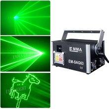 1w 녹색 레이저 3D 애니메이션 스캐너 프로젝터 ILDA DMX 댄스 바 크리스마스 파티 디스코 DJ 효과 조명 무대 조명 쇼 시스템