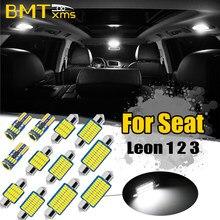 BMTxms-Kit de luz LED para Interior de coche, mapa Interior, luz de maletero para Seat Leon 1, 2, 3, Mk1, Mk2, Mk3, 1 M, 1P, 5F, 1999-2018, accesorios para coche