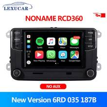 Rcd360 carro rádio carplay 6rd 035 187b mib auto mirrorlink para vw golf 5 6 jetta mk5 mk6 polo passat b6 b7 cc tiguan touran