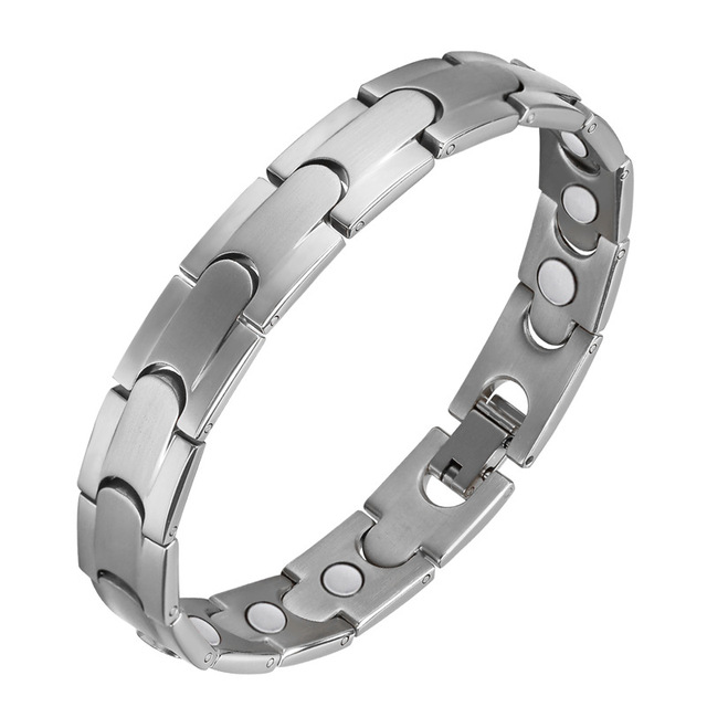 Oktrendy Men Healthy Magnetic Bracelet Stainless Steel Power Therapy Improve Sleep Weight Loss Magnets Bangles For Lovers Gift