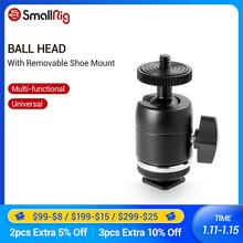 Smallrig sapata montar cabeça de esfera multi funcional com suporte de sapato removível para canon/nikon/olympus/panasonic câmeras 1875