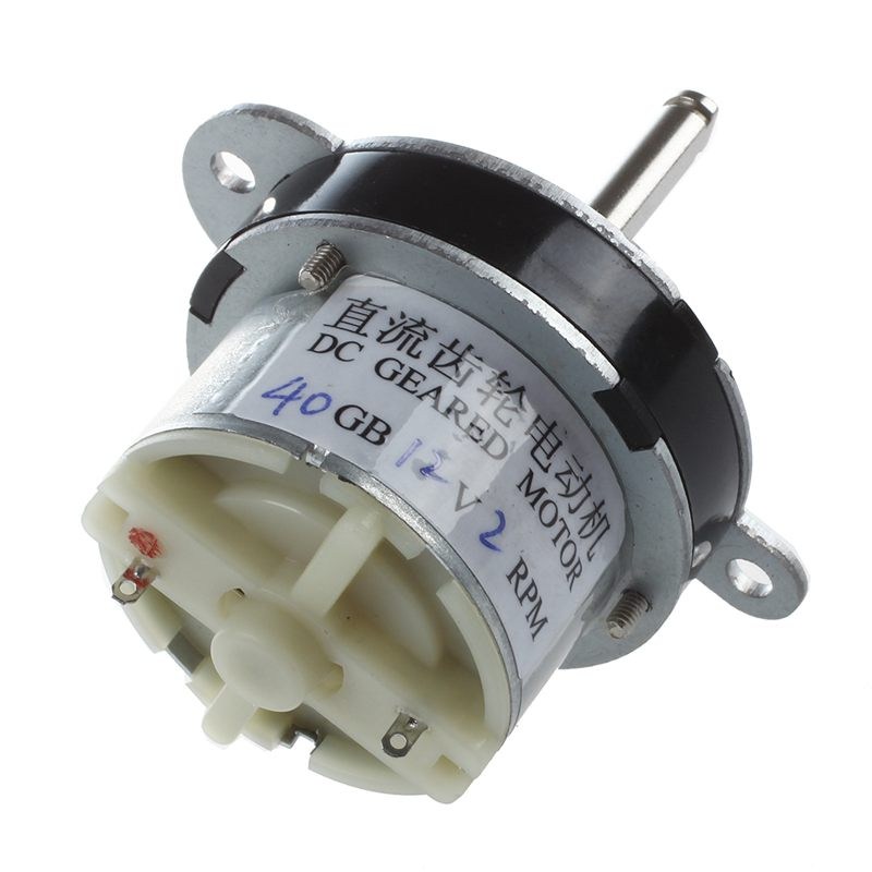 40GB 2RPM DC 12V Speed Reduce Geared Box Motor for Electrical Machine