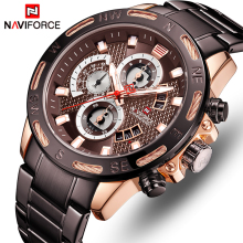 NAVIFORCE Top Brand Watch Men Fashion Sports Watches Waterproof Quartz Wristwatch Chronograph Date Male Clock Relogio Masculino