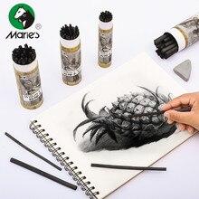 Marie's хлопок ива древесный уголь искусство специальные мягкие Угольные карандаши Профессиональный эскиз угольный карандаш эскиз живопись инструменты