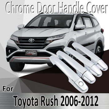 for Toyota Rush 2006-2012 2007 2009 2010 2011 2012 Styling Stickers Decoration Chrome Door Handle Cover Refit Car Accessories image