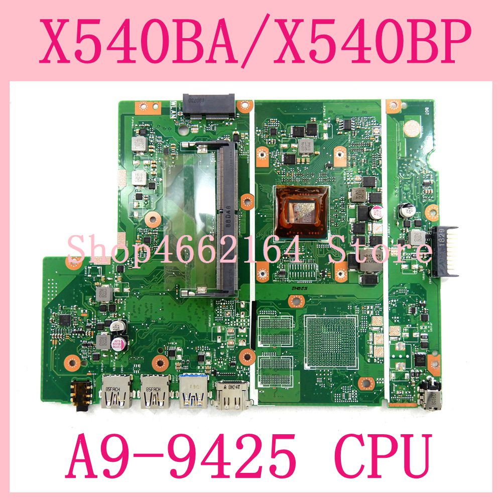 X540BA With A9-9425CPU Motherboard For ASUS X540BP X540BA X540B Laptop Motherboard X540BA Mainboard 100% Tested