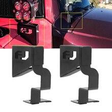 2pcs Car Windshield Pillar Front Cowl Led Work Light Mounting Brackets for Toyota Fj Cruiser 2007 2015