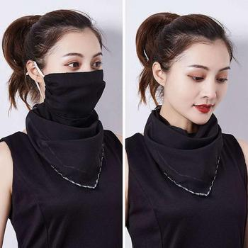 1Pc Summer Female UV Outdoor Cycling Travel Face Shawl Anti Haze Pollen Dust Masks Neck Protection Sunscreen Veil Chiffon Masks 1