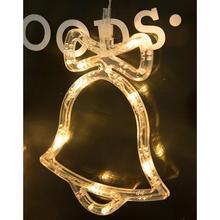 Креативный теплый светодиодный светильник в виде снеговика, звезд, ангела, 20 см/7,9 дюйма, Рождественский светильник, 8 шт