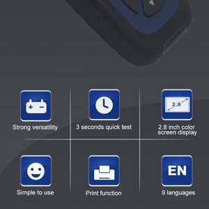 Image 5 - 자동차 배터리 테스터 12V 자동차 배터리 분석기 100 ~ 2000 CCA 납산 AGM 젤 EFB 배터리 USB 인쇄